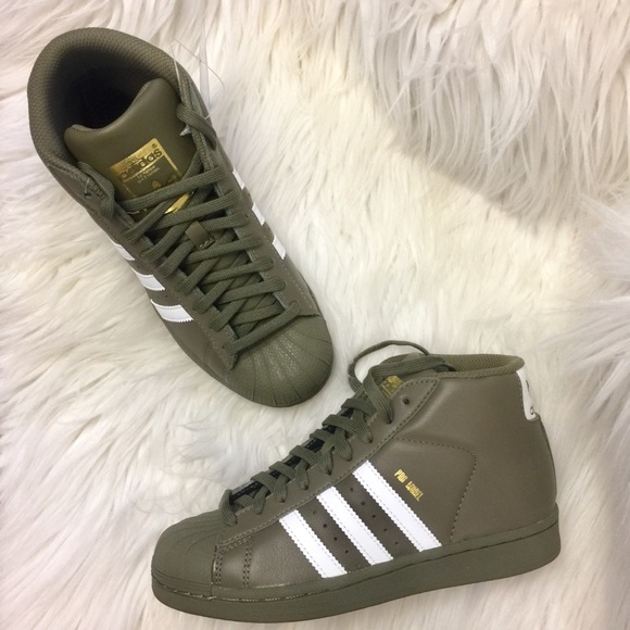New Adidas Olive Army Green Hightop